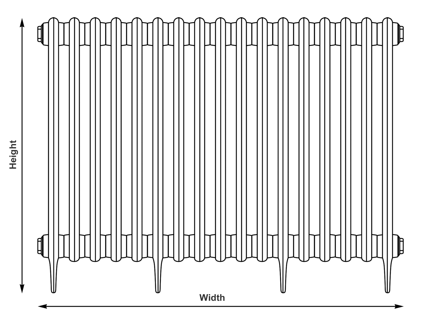 radiator width and measurements