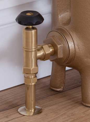Telford manual radiator valve brass
