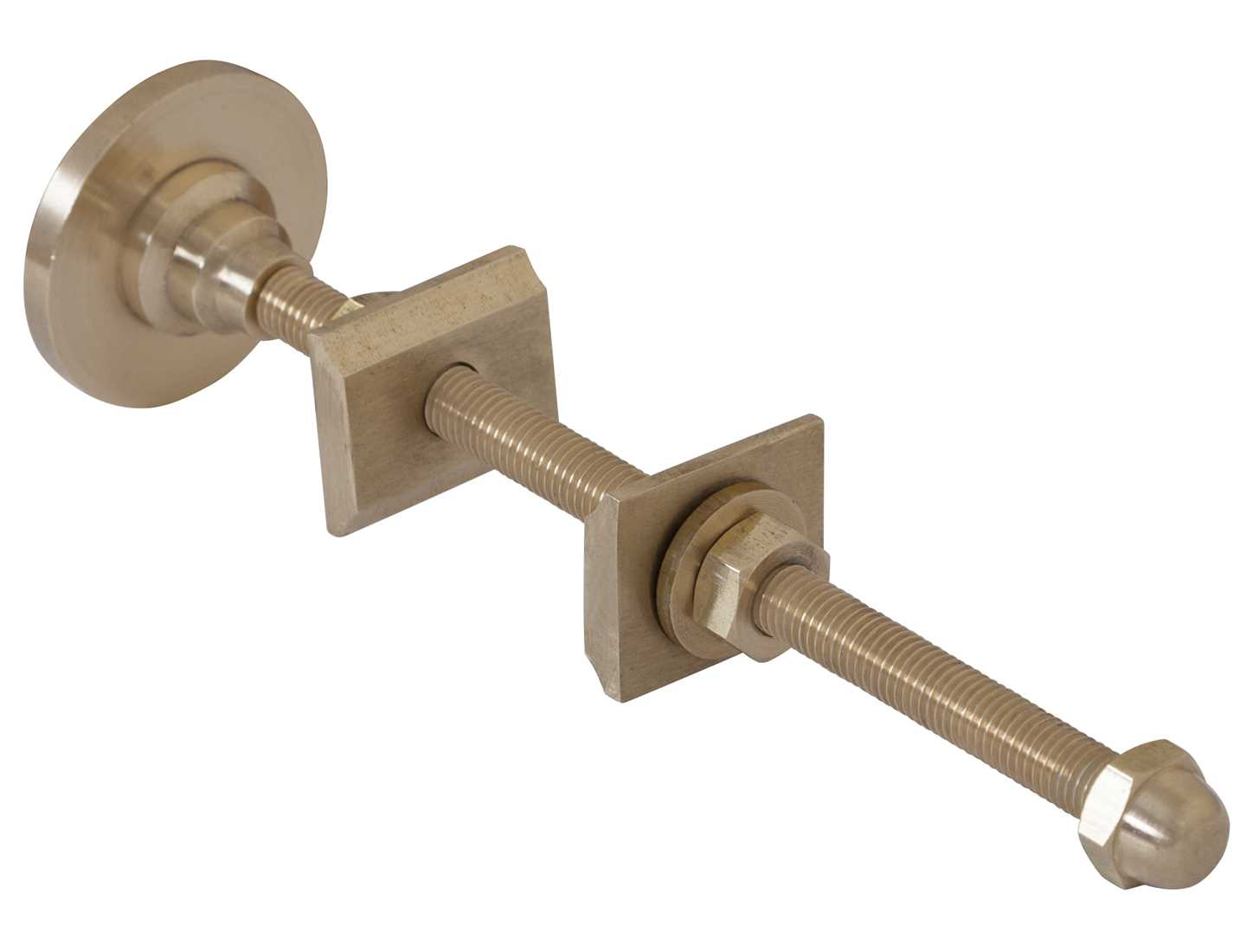 Solid brass wall stay