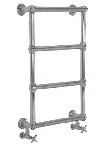 Bassingham towel rail in chrome - wall mounted