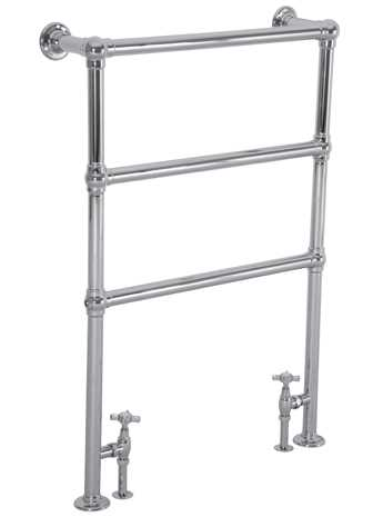 Beckingham floor mounted towel rail - chrome