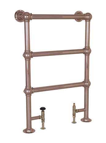 Colossus floor mounted towel rail copper