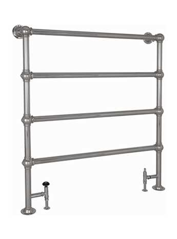 Colossus 4 bar floor mounted towel rail chrome