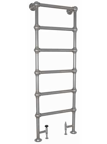 Colossus 6 bar heated towel rail floor mounted chrome