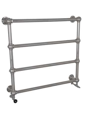 Wall mounted heated towel rail 4 bar chrome
