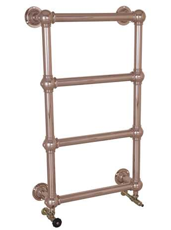 Wall mounted heated towel rail - 4 bar copper