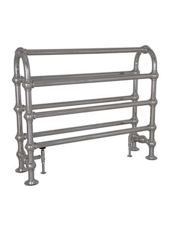 Colossus Horse chrome floor mounted towel rail