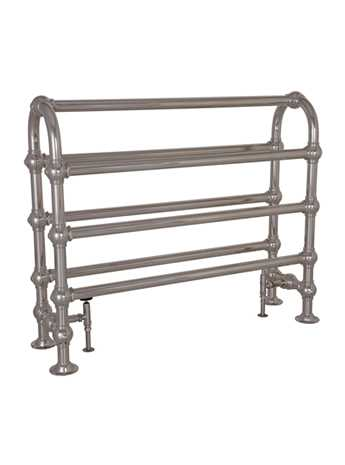 Colossus Horse nickel floor mounted towel rail