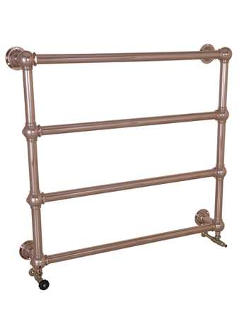 Wall mounted heated towel rail in copper - 4 bars