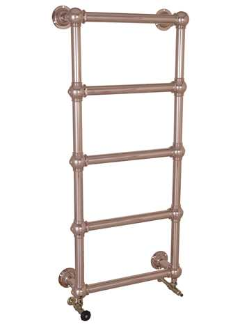 Wall mounted heated towel rail in copper - 5 bars