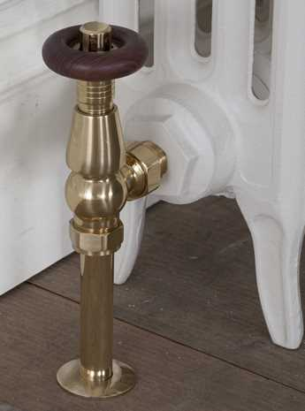 Kingsgrove thermostatic radiator valve - brass