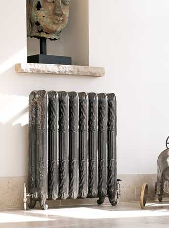 Peacock cast iron radiator - hand burnished