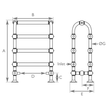 Colossus horse towel rail measurements