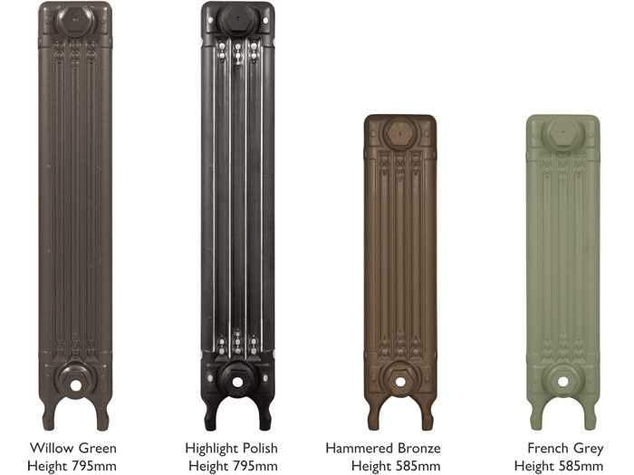 L'Art Deco cast iron radiator heights