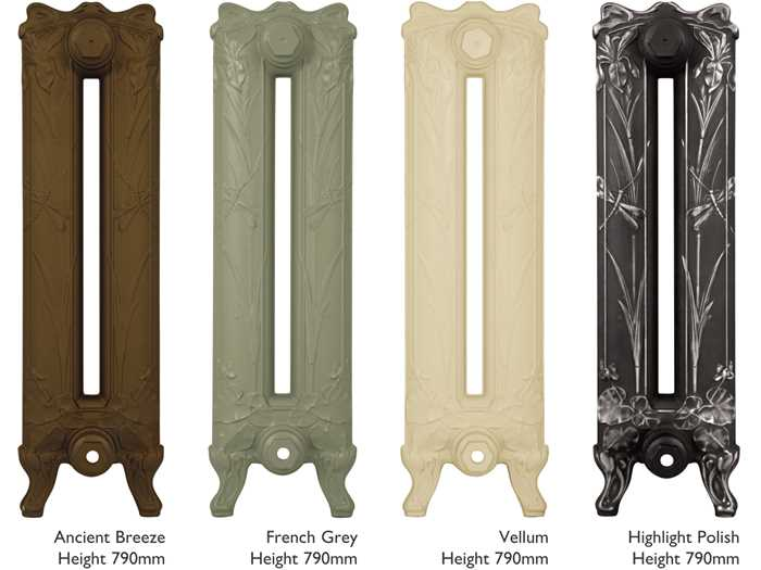 Lily cast iron radiator heights