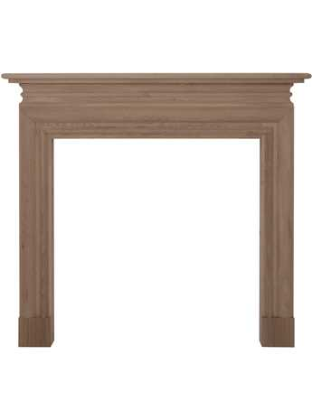 Solid wood fire surround
