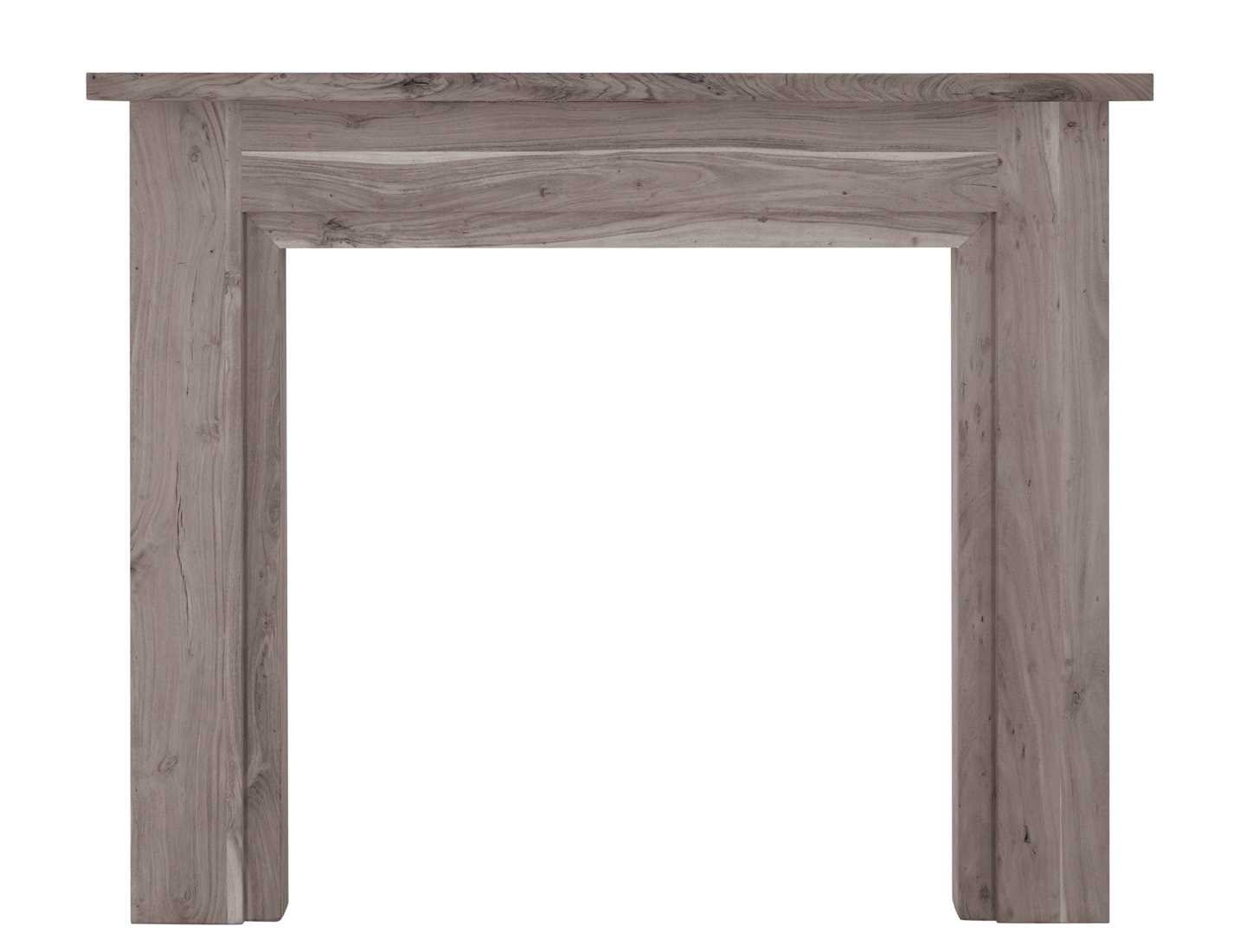 Colorado solid acacia fire surround weathered