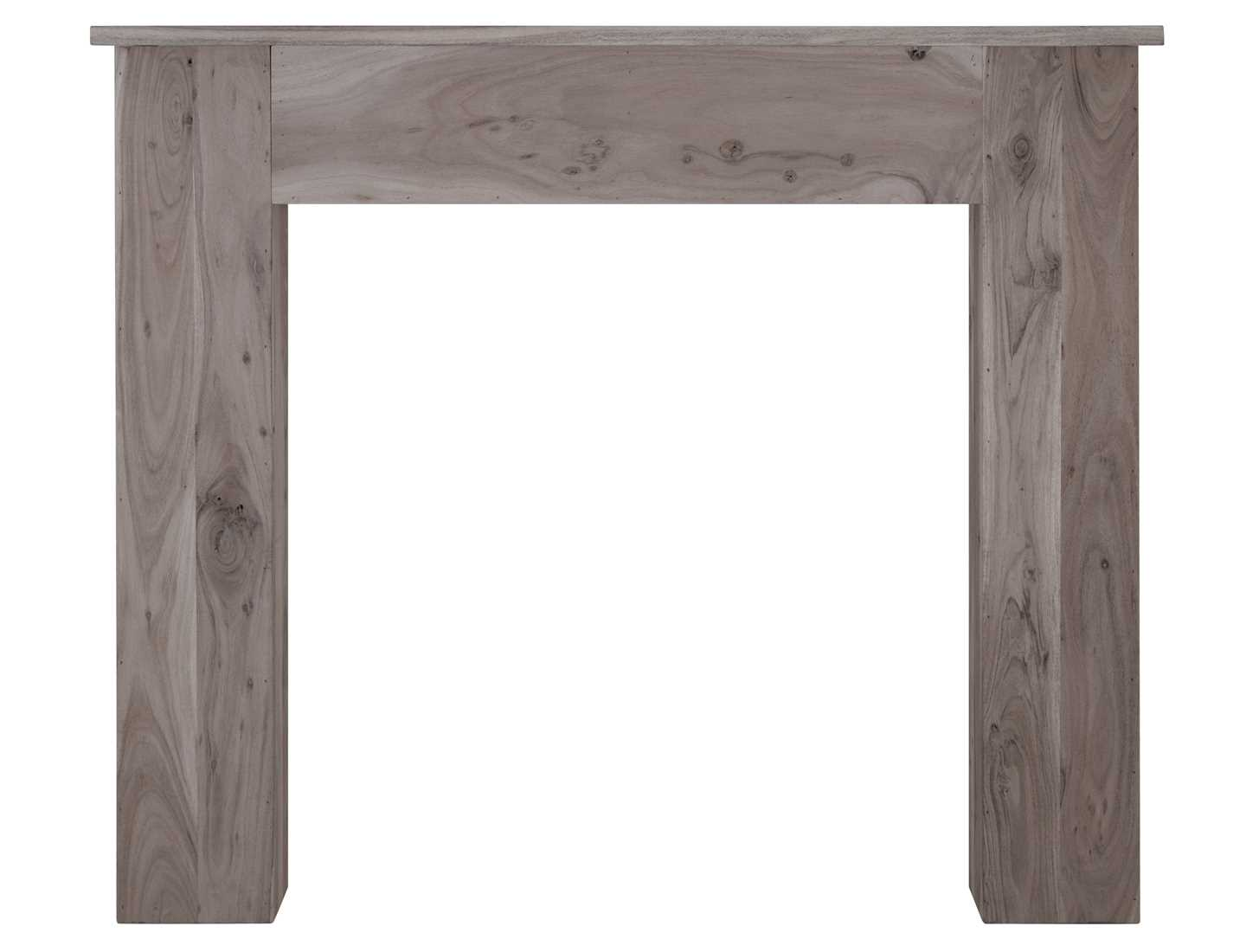 New england solid acacia fire surround weathered