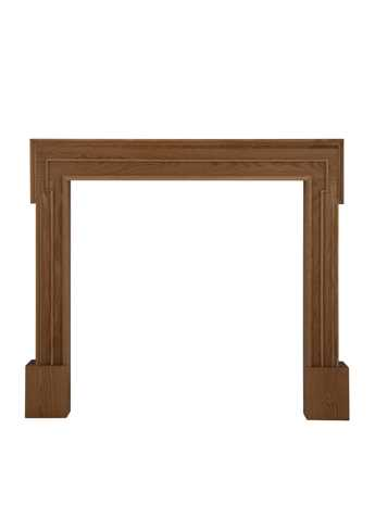 Palladio solid oak clear lacquer fire surround