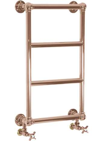Melton brass wall mounted towel rail copper