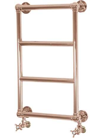 Winster steel wall mounted 4 bar towel rail copper