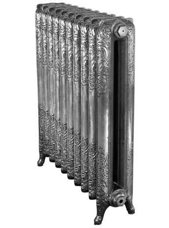 baroque 2 column hand burnished cast iron radiator