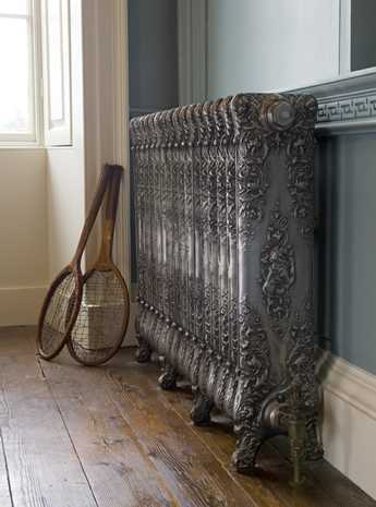 emmanuelle 1 column hand burnished traditional cast iron radiator