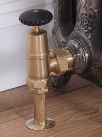 Brunel manual radiator valve brass