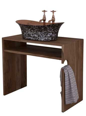 cirque solid wood bathroom accessory