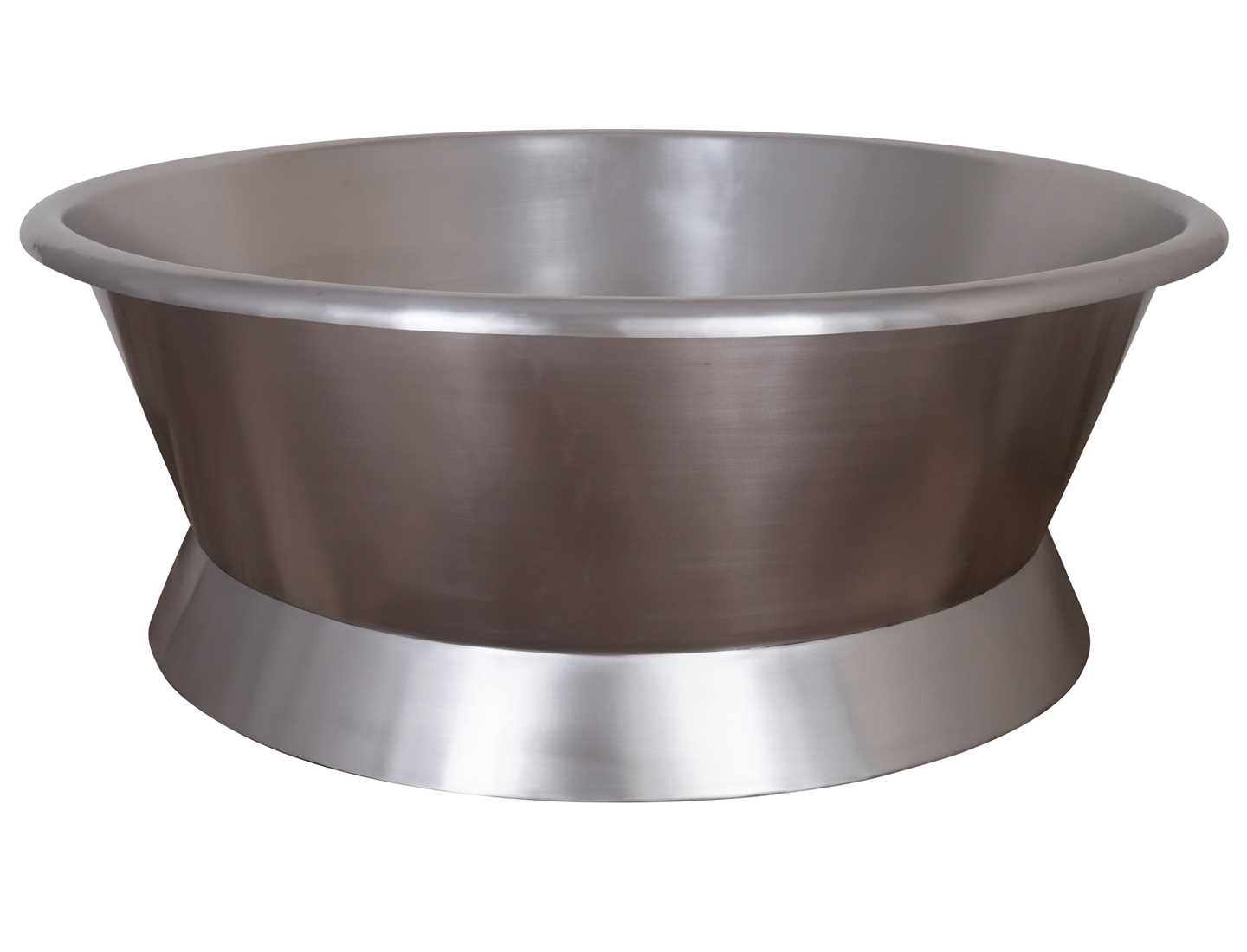 Giotti Stainless Steel Round Bath Plinth