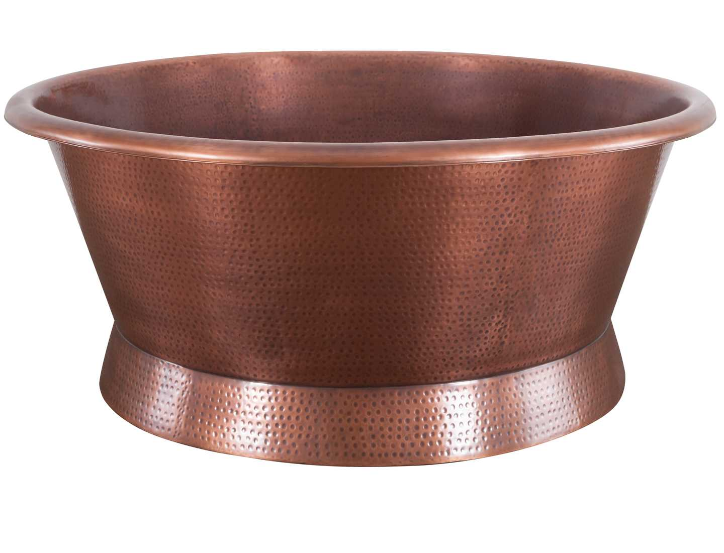 Crivelli Hammered Copper Round Bath