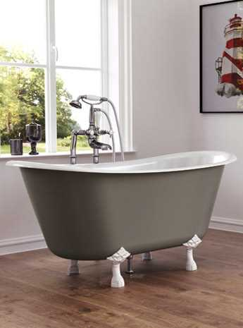 Marino Without Tap Holes Cast Iron Bath Painted