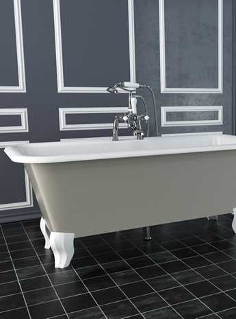 Modena Cast Iron Bath Without Tap Holes Painted